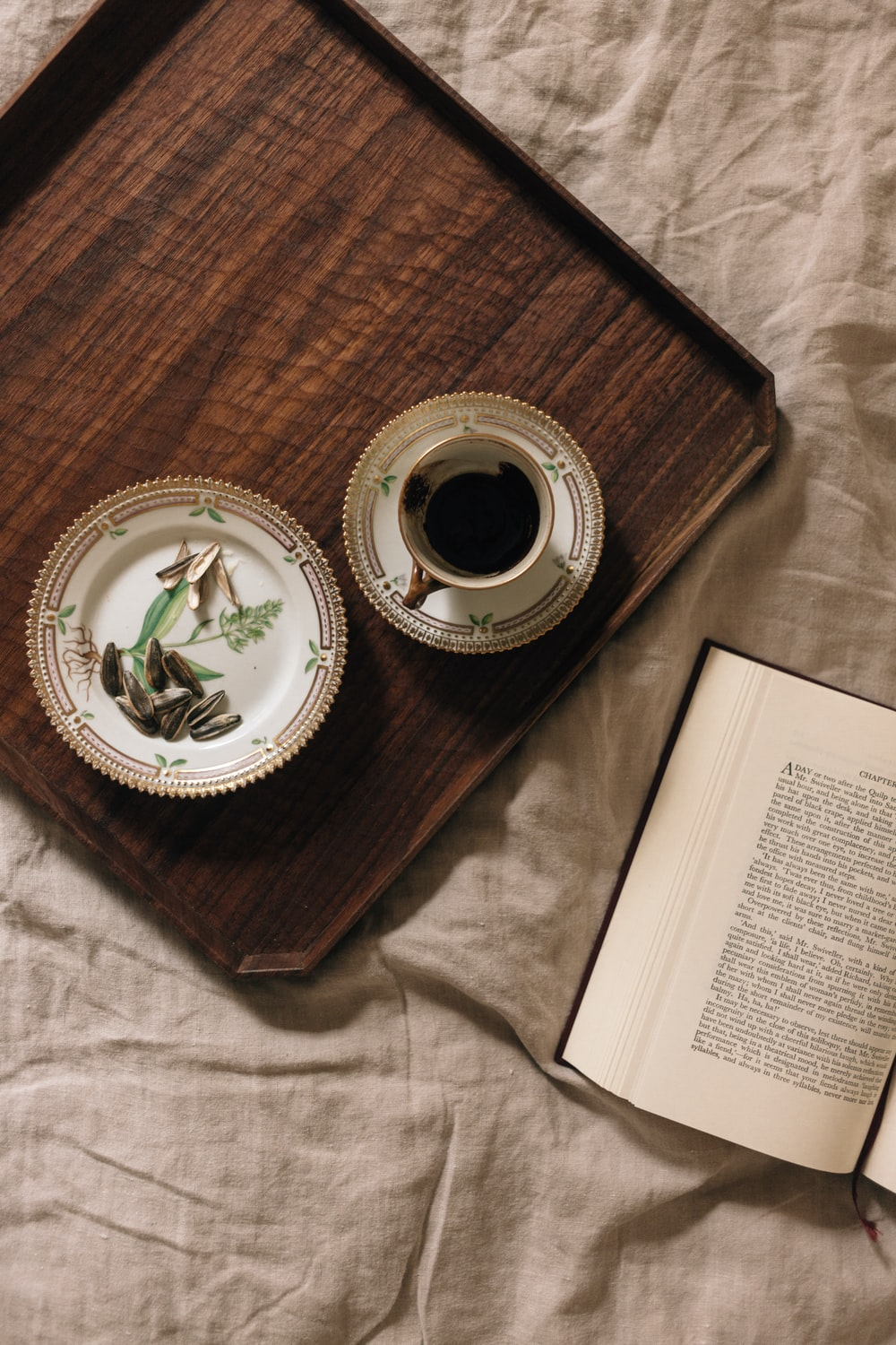 cup on tray