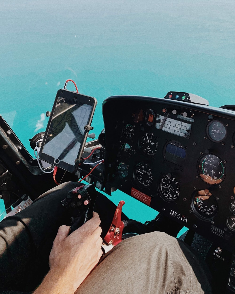 iPad in helicopter