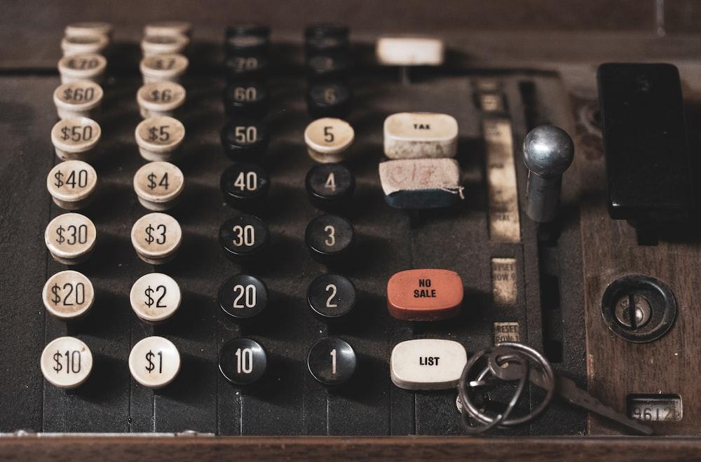 black adding calculator
