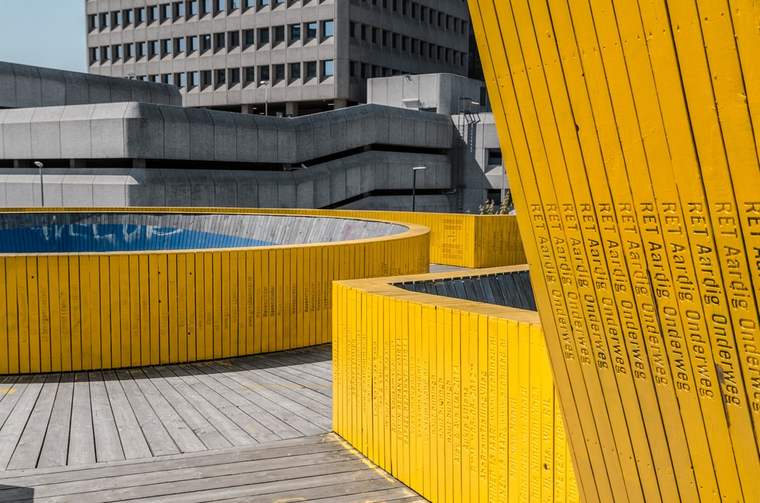 yellow bridge rotterdam