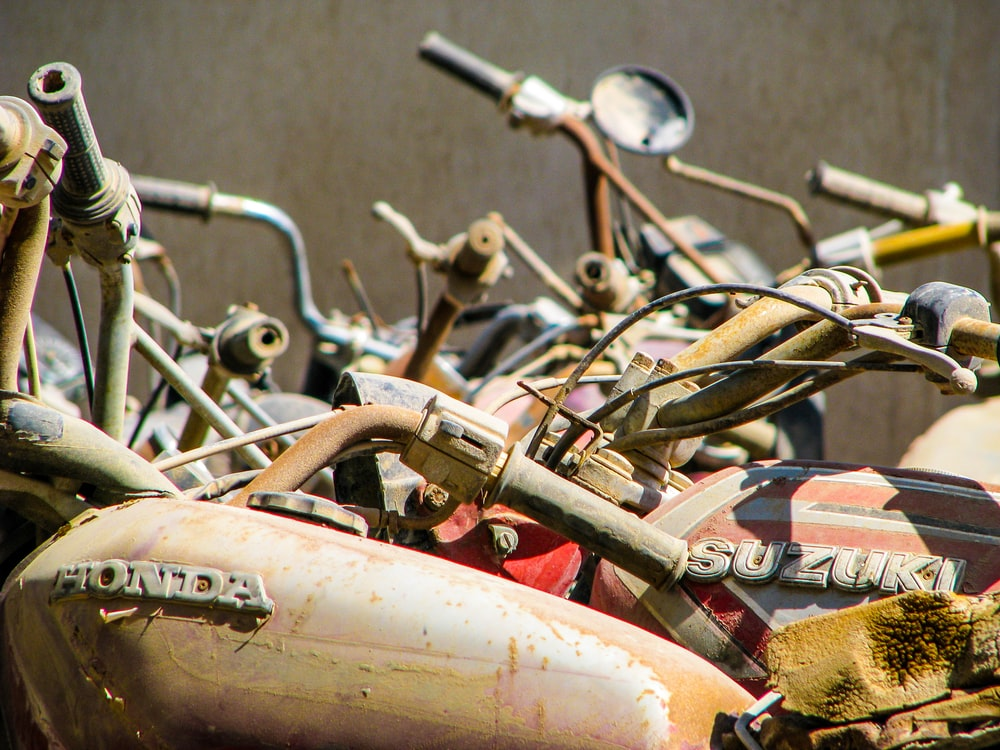 assorted motorcycles