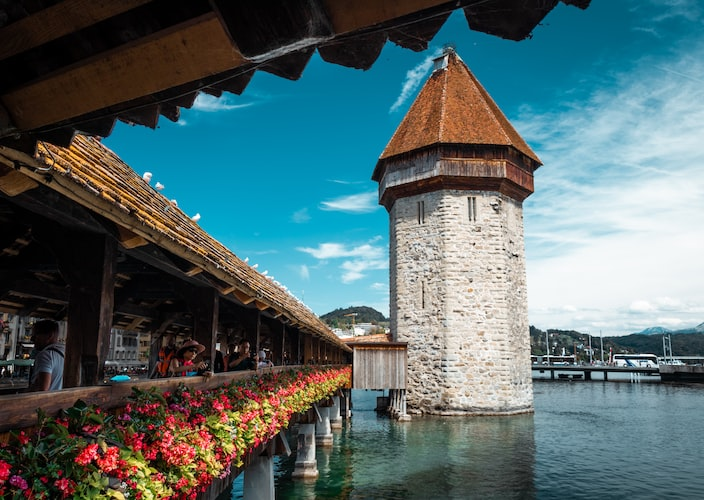 View from the Chapel Bridge, Things to Do in Lucerne