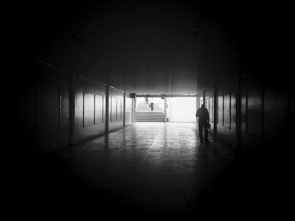 man on dark alley