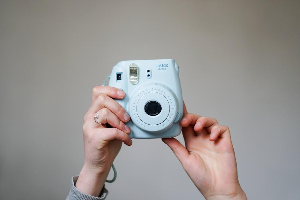 blue Fujifilm Intax Mini 8