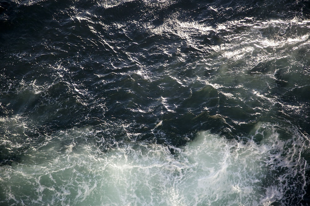 high angle photo of ocean water