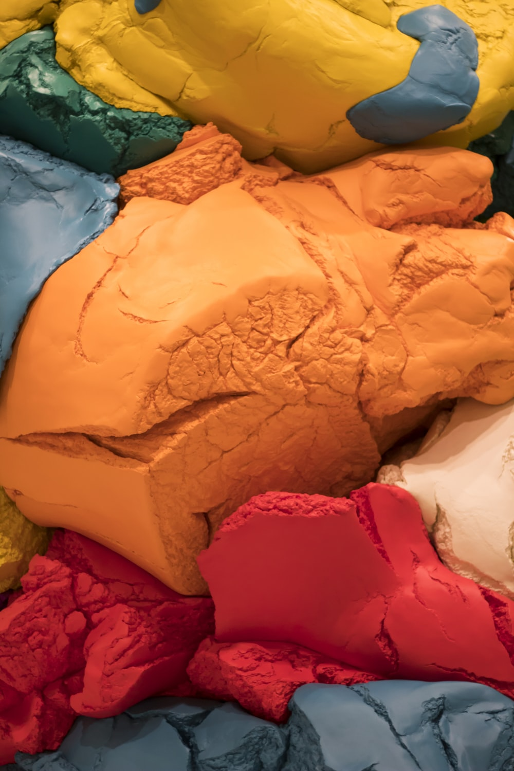 assorted-color clays