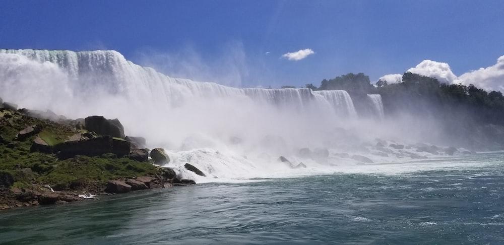 waterfalls view during dayitme