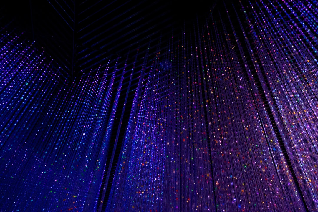 LED lights in TeamLab's digital art museum in Tokyo.