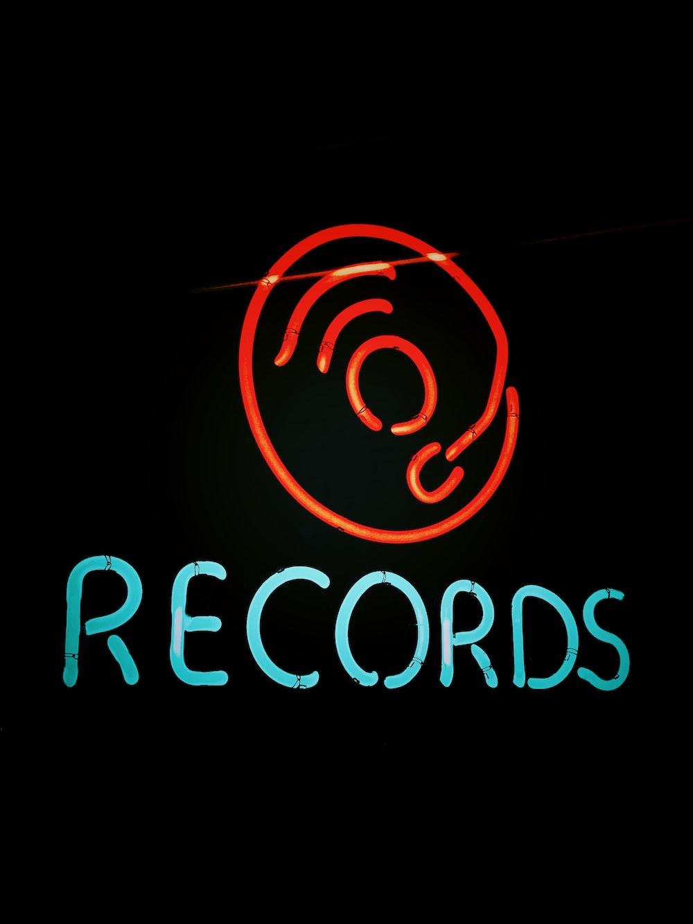 records signage