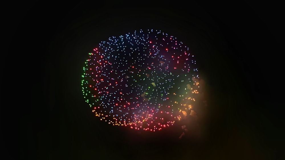 fireworks at night time