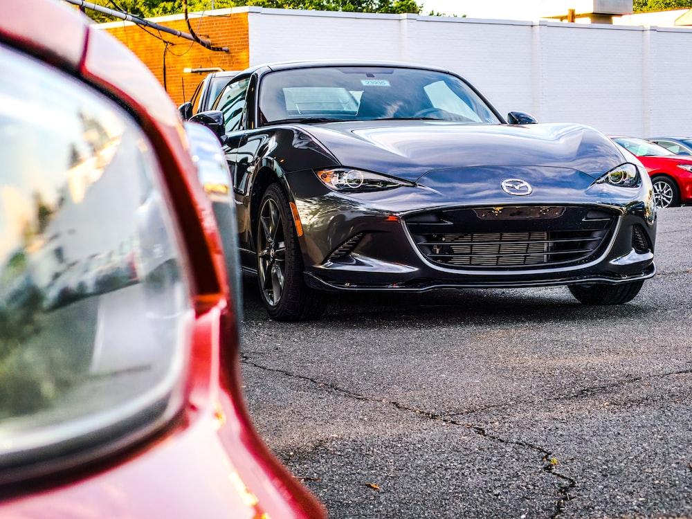 black Mazda car