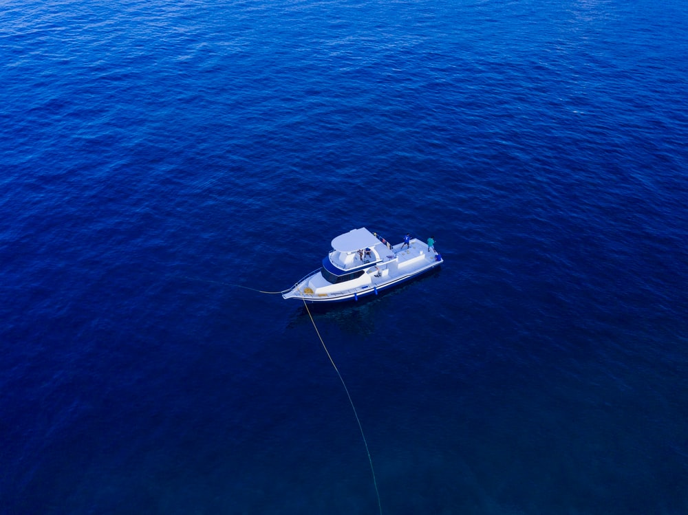 aerial photo of boat on ocean during daytime