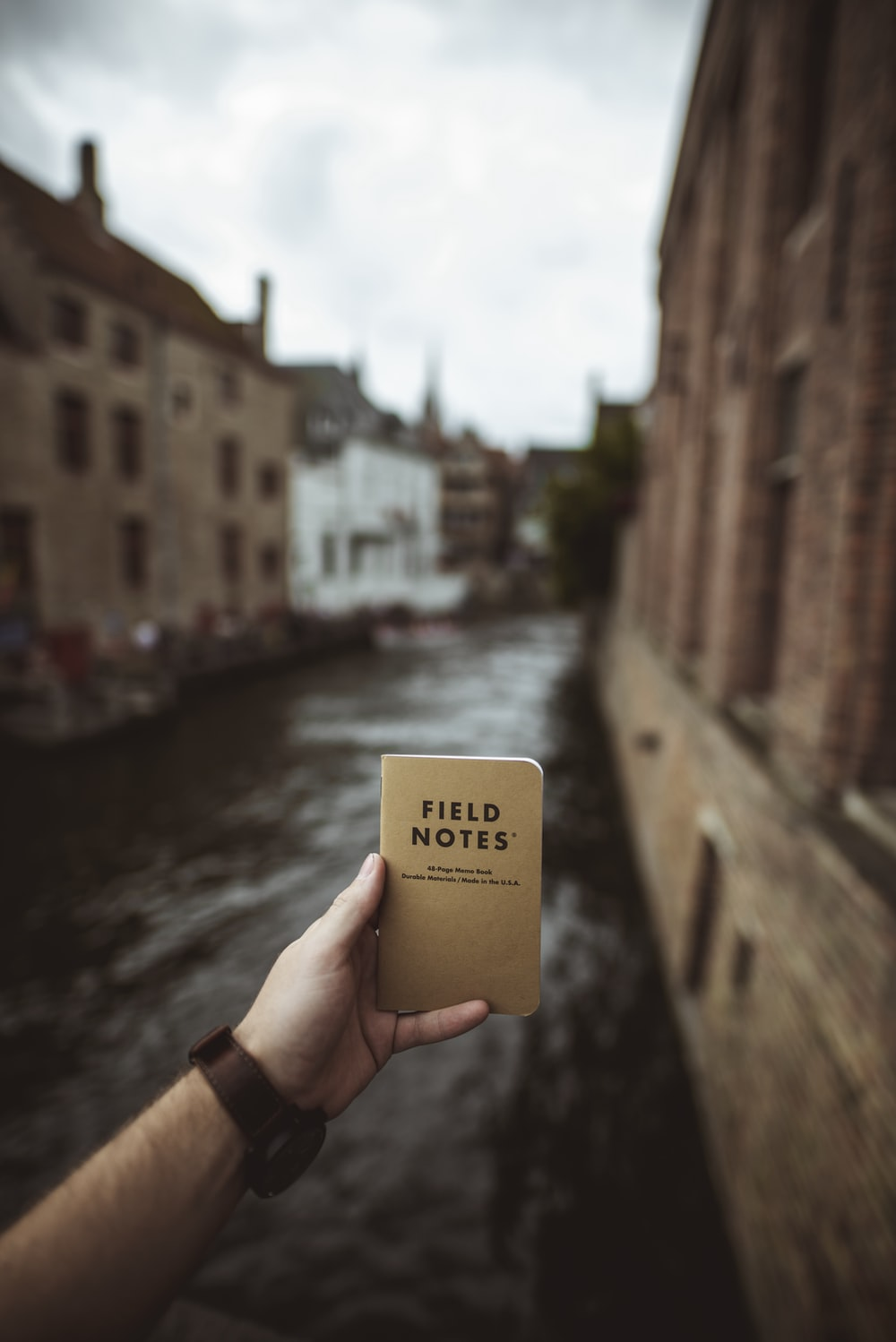 Fields Notes notebook in person's hand