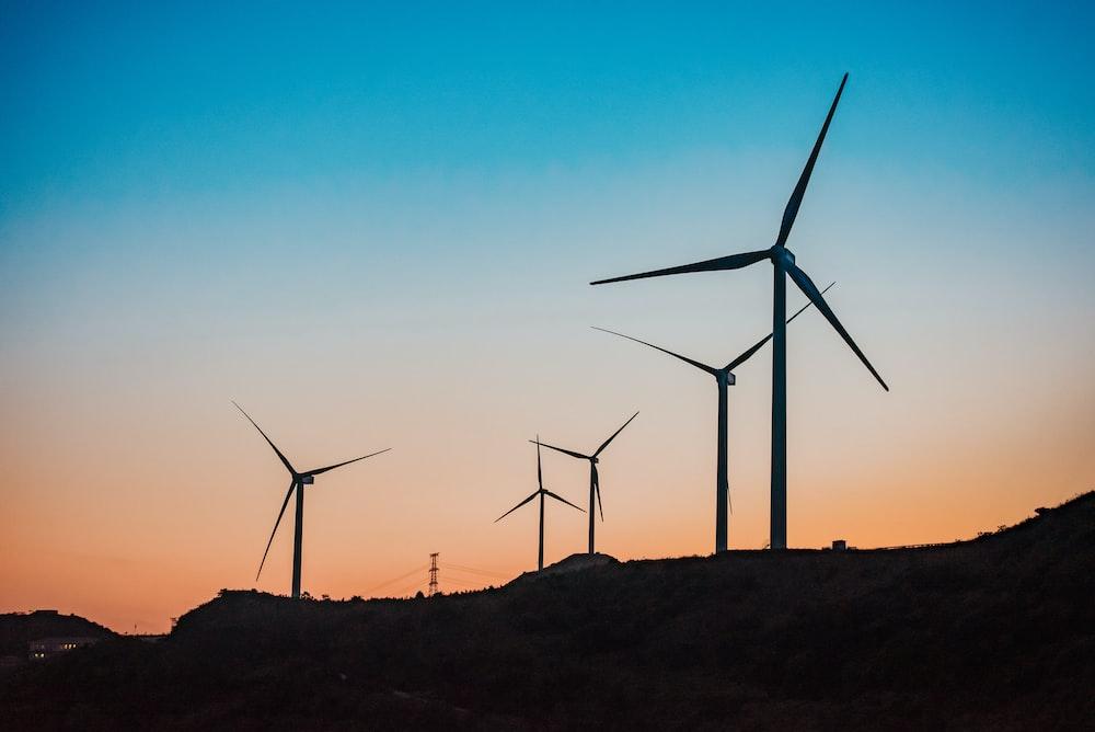 black windmills