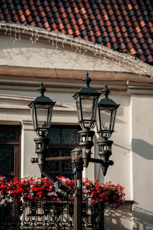 black lamppost