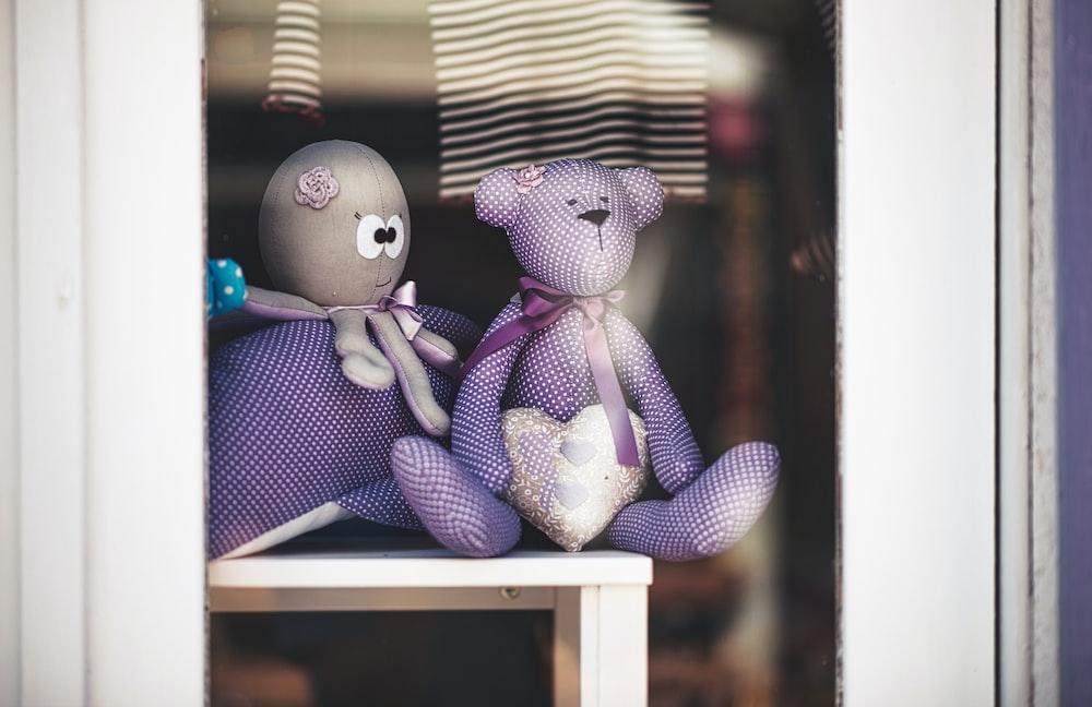 purple bear plush toy