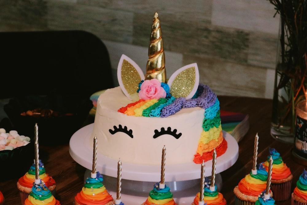 round My Little Pony Rainbow Dash cake