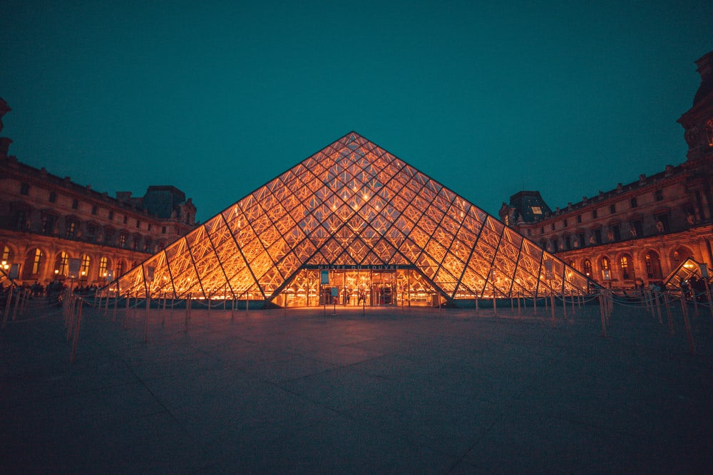 The Louvre Museum during night