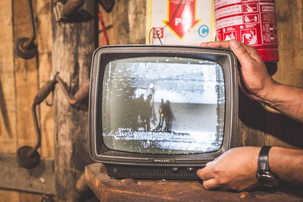 black CRT television