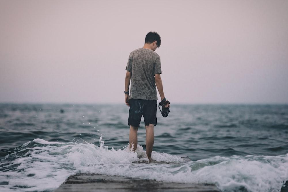 man in seashore