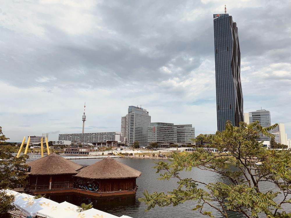 buildings near river