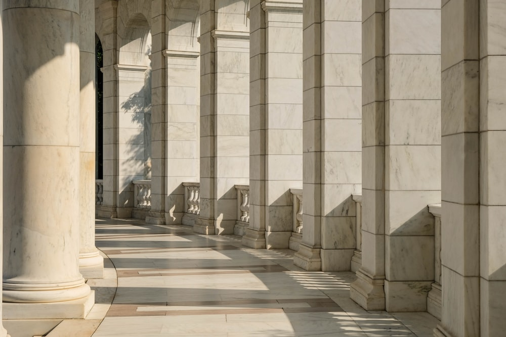beige painted column