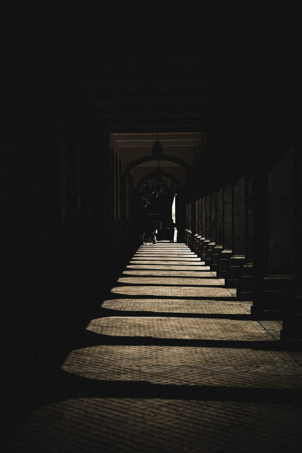 photo of brown and gray pathway reflected by sunlight
