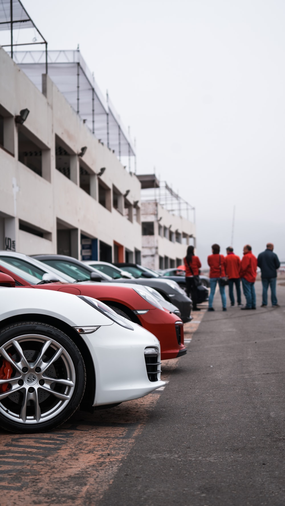 parked sport cars