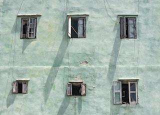 six opened windows