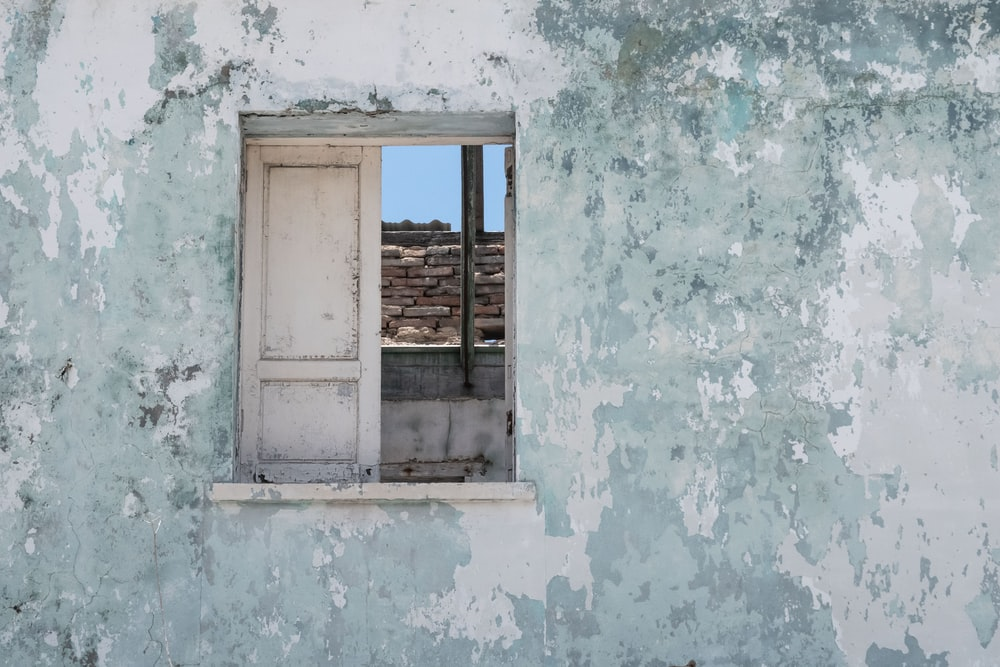 white wooden window panel