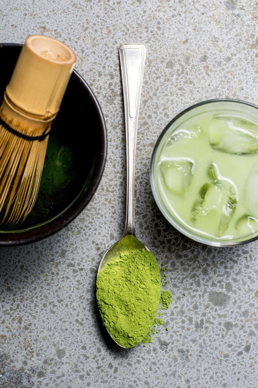 green powder on spoon