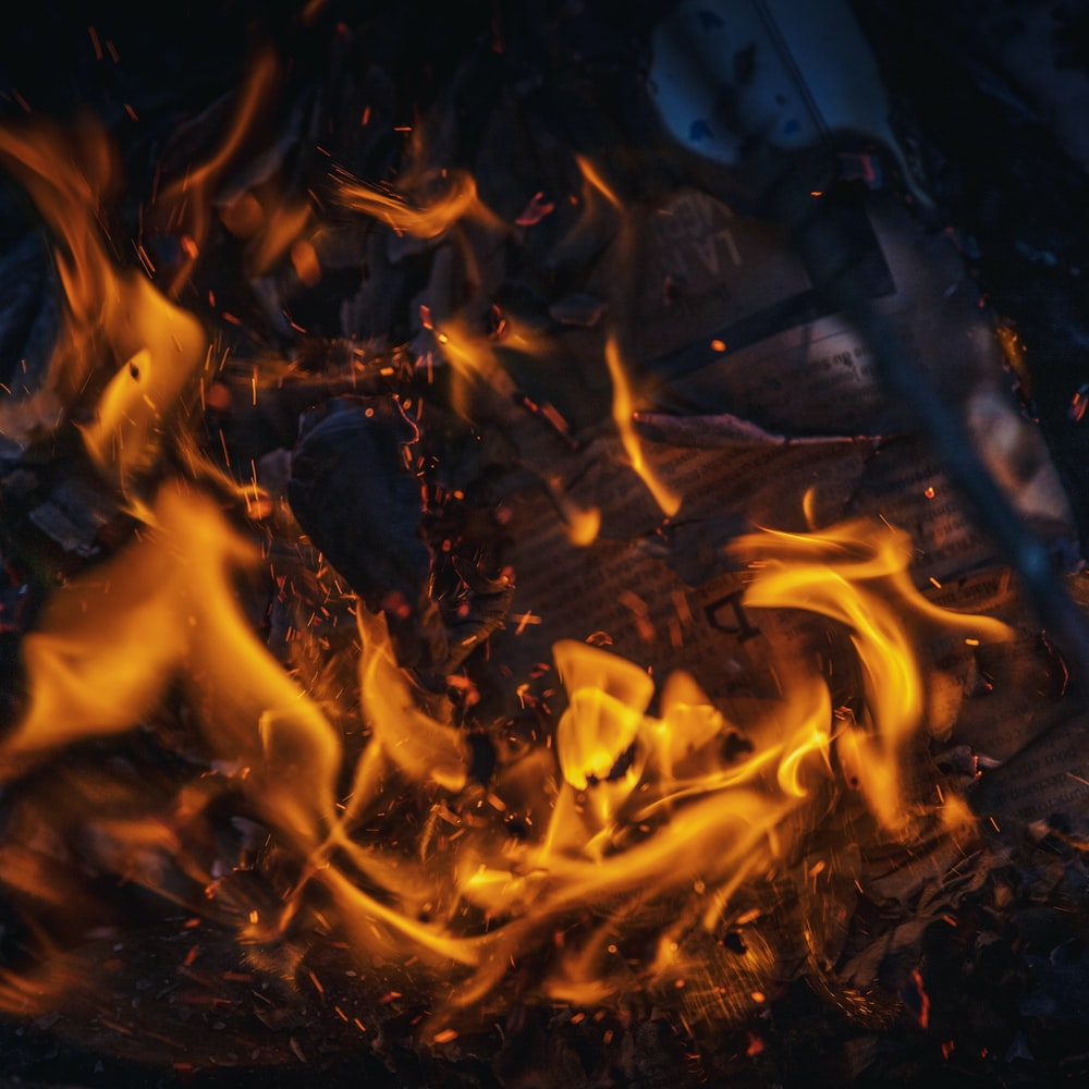 fire in close-up photography