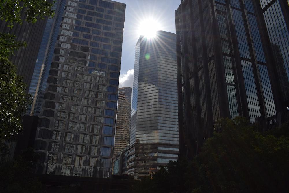 high-rise buildings under blue sky
