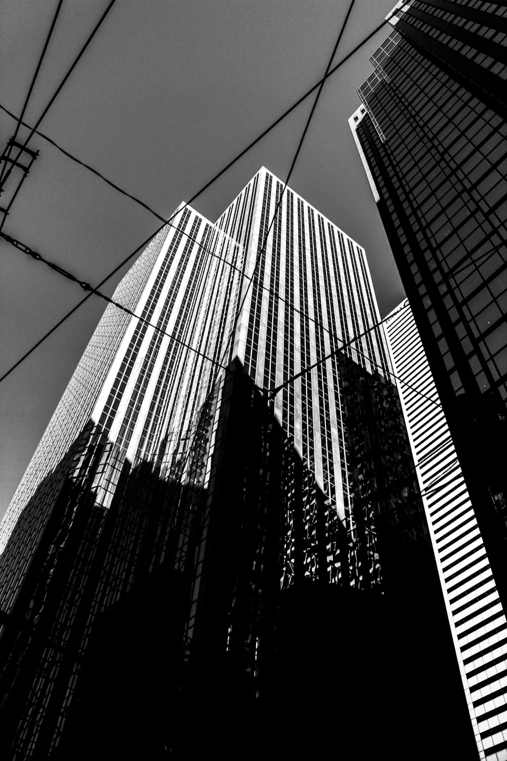 low angle photo of high-rise buildings