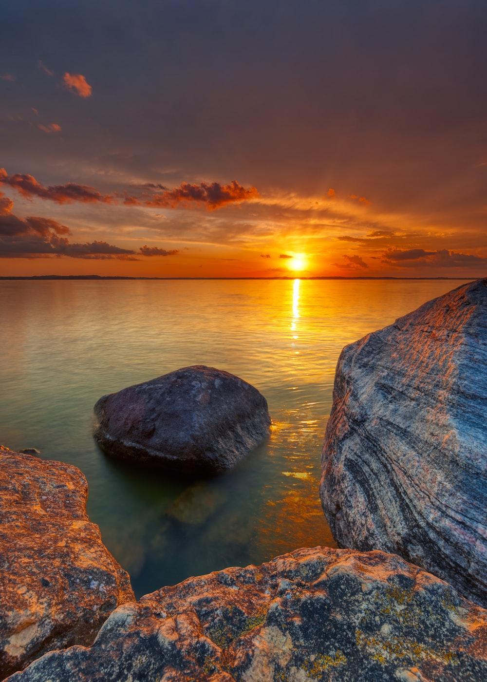 rock on ocean