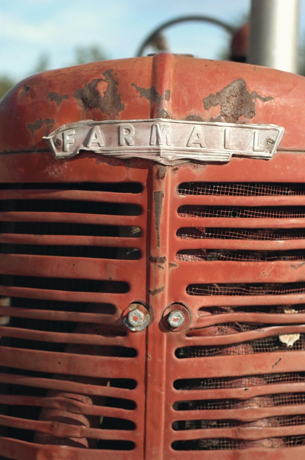 red Farmall engine