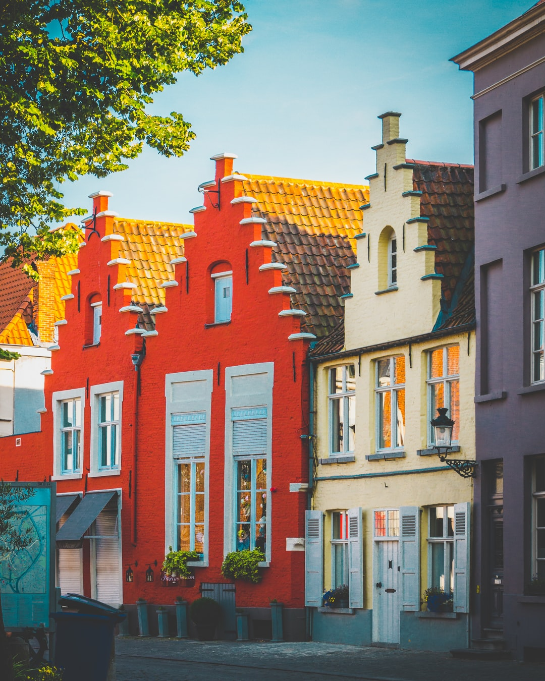 Bright colours houses