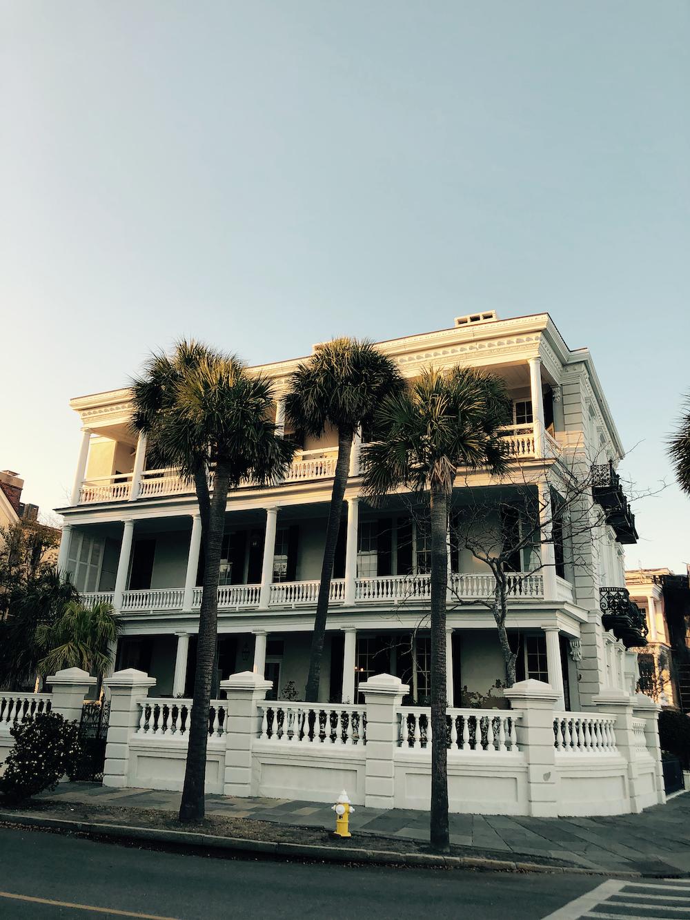 white concrete mansion