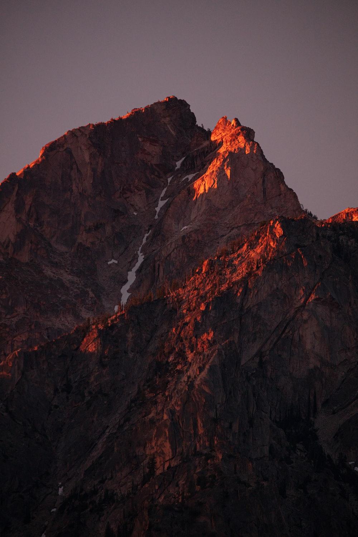 rocky mountain at daytime