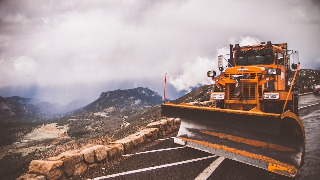 Snow plow at 14,000 feet