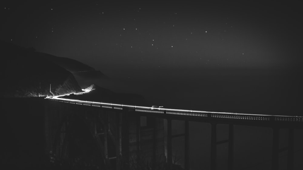 bridge during nighttime