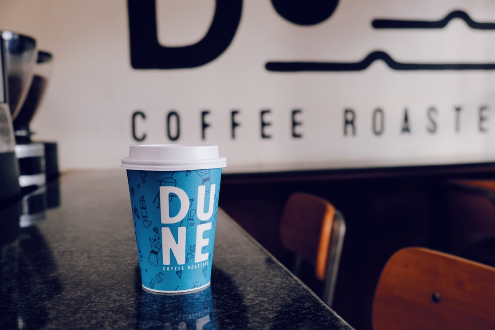 Dune coffee cup on table
