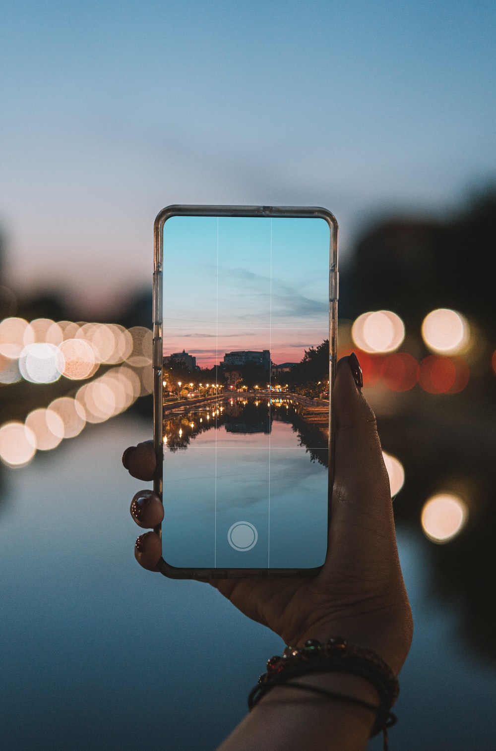 person holding phone