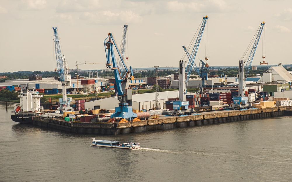 ship near seaport