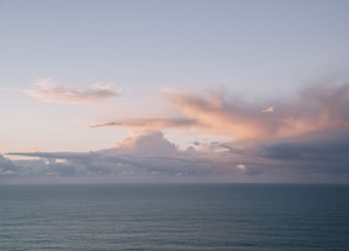 body of water and cloud formation