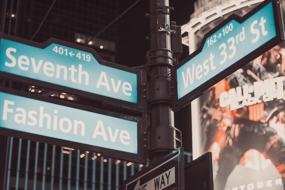 three street signage