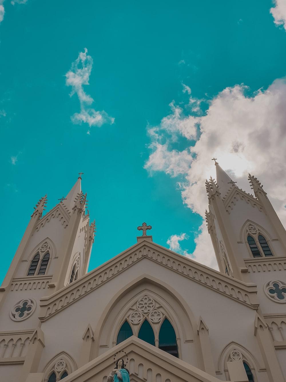 beige church