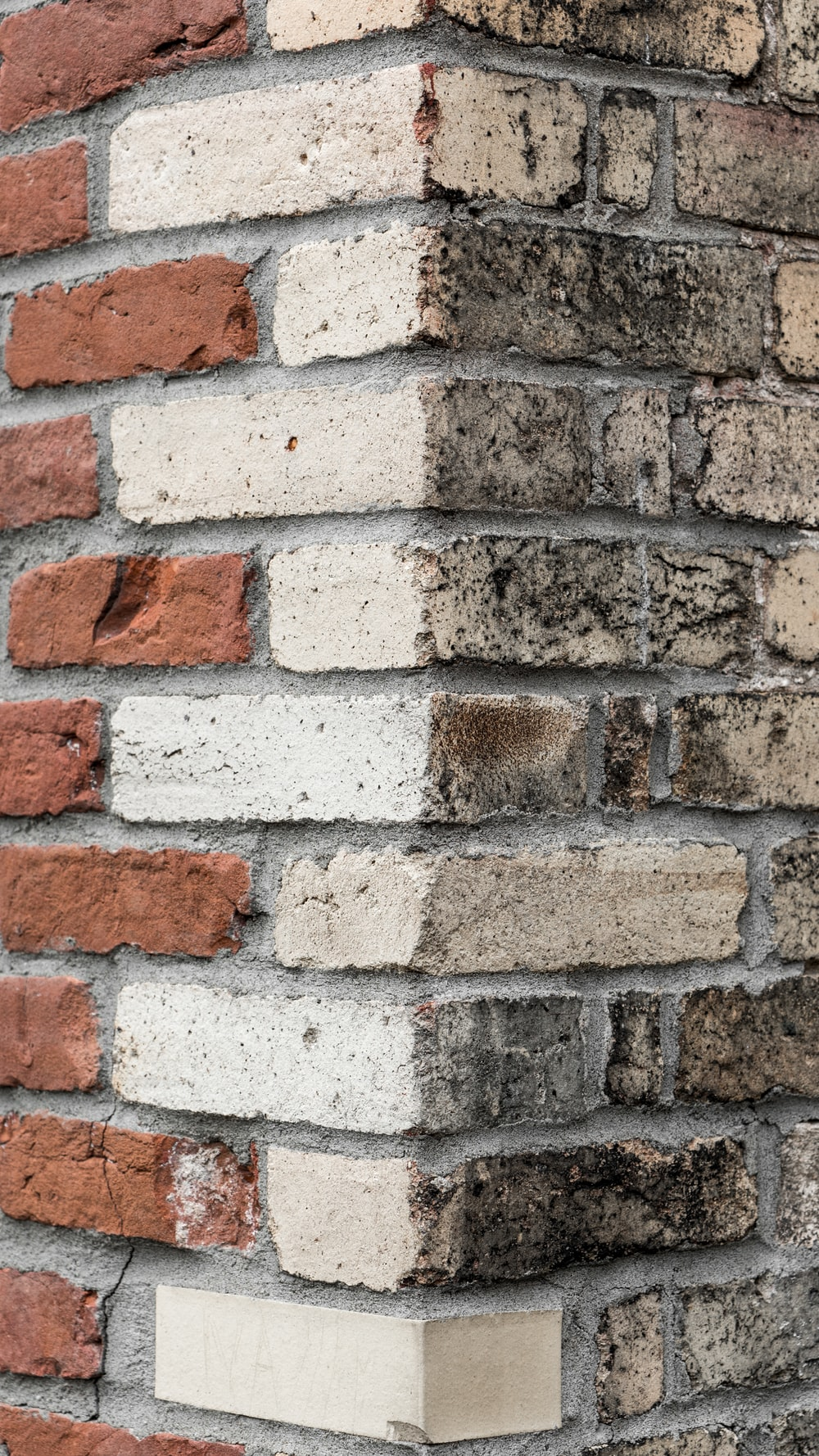 white concrete bricked wall
