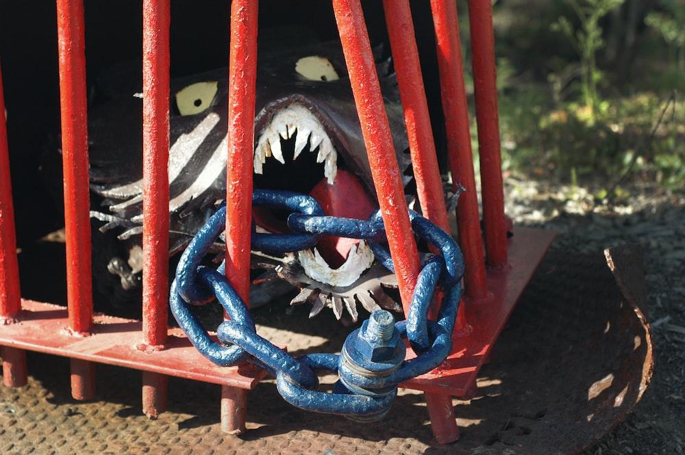 blue metal chain