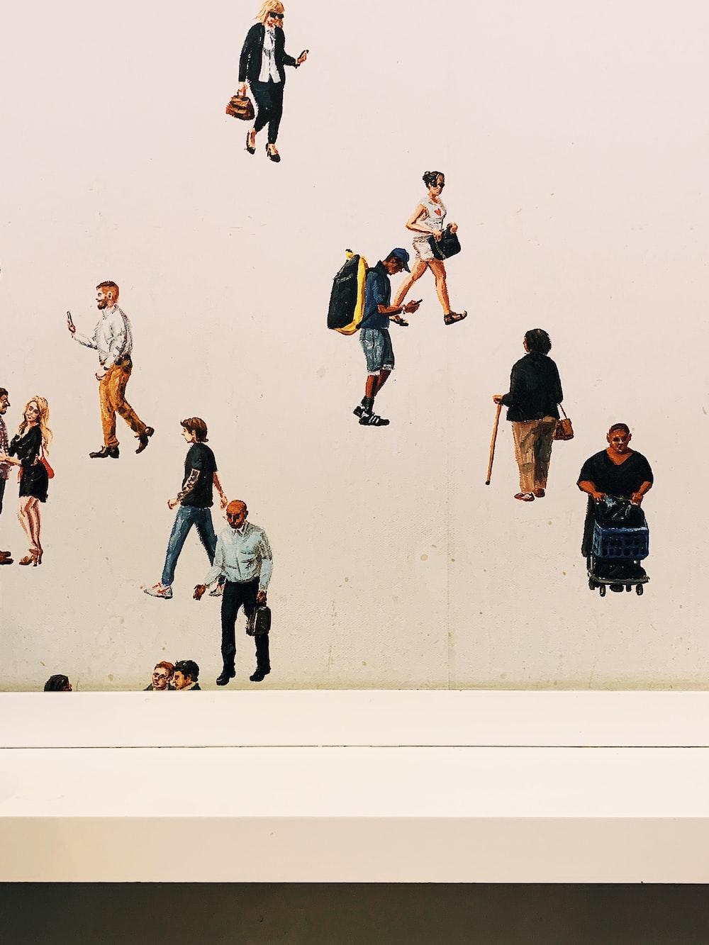 people walking illustration